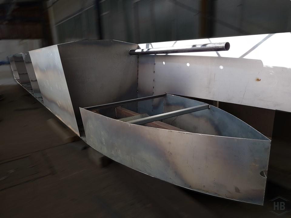 Hausboot Katamaran Schwimmer aus Stahl